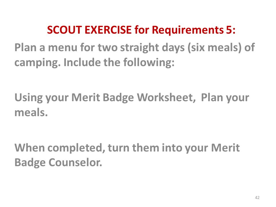 Cooking Merit Badge Class ppt download – Camping Merit Badge Worksheet Answers