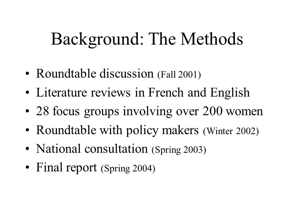 Background: The Methods