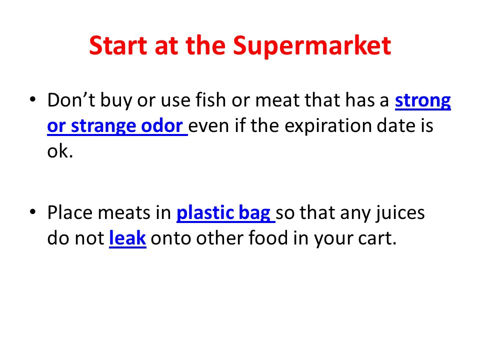 Start at the Supermarket