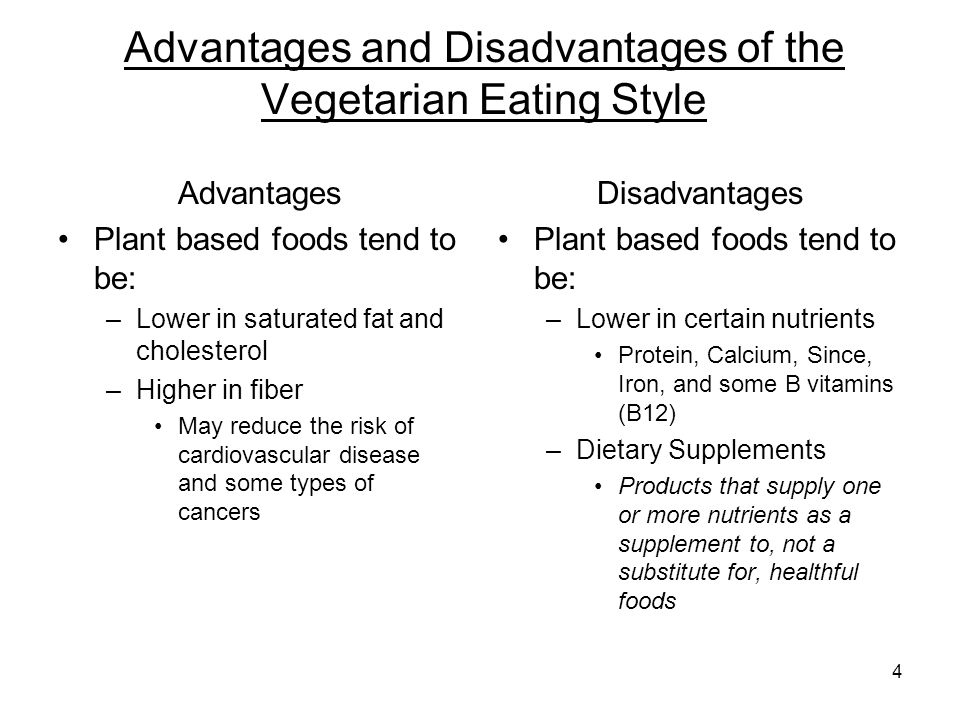 The advantage and disadvantages of eating