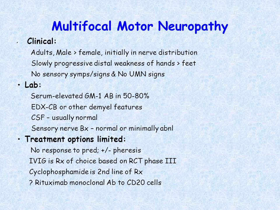acute motor neuropathy