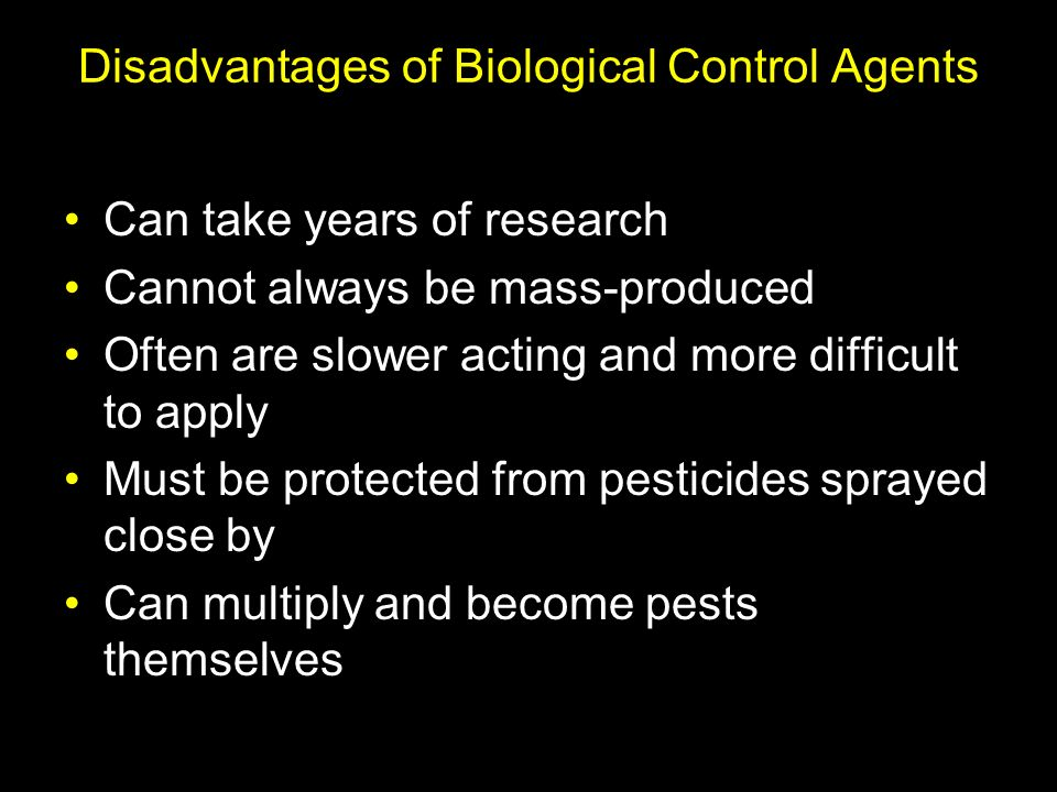Disadvantages of Biological Control Agents