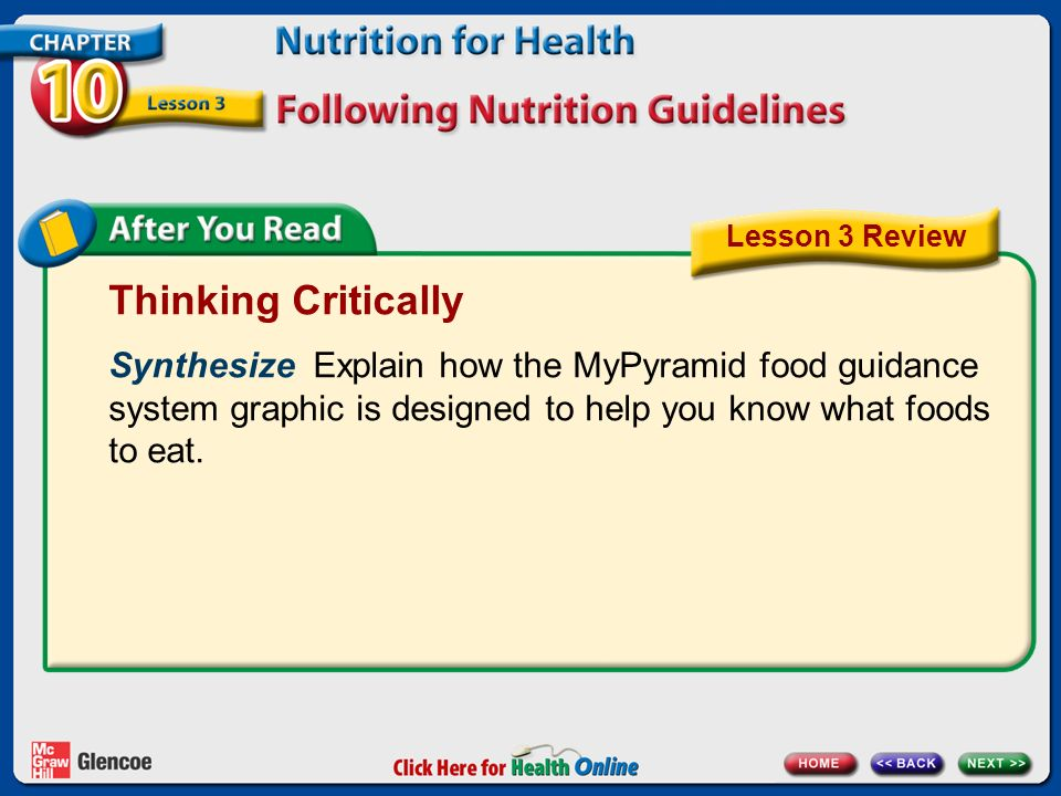 Chapter 10 Nutrition for Health Lesson 3 - ppt video online download