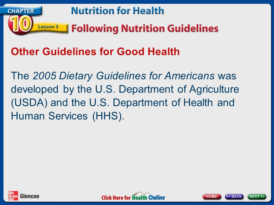 Chapter 10 Nutrition for Health Lesson 3 - ppt download