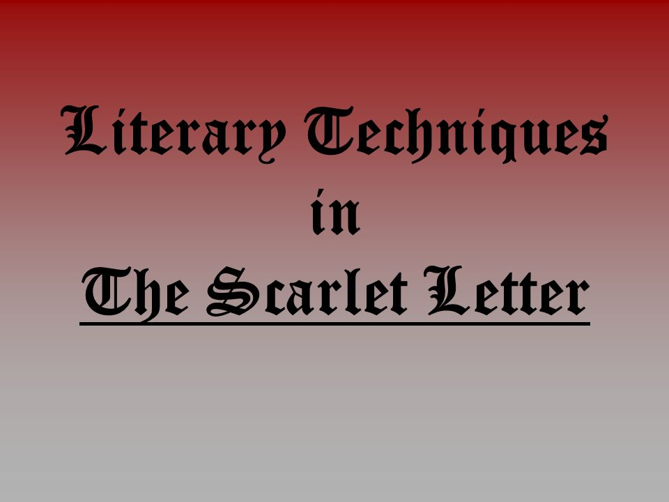 Comment on the Use of Irony in The Scarlet Letter