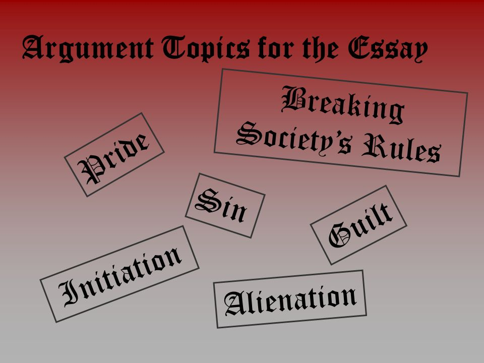 scarlet letter alienation essay The scarlet letter essays are academic essays for citation these papers were written primarily by students and provide critical analysis of the scarlet letter by.