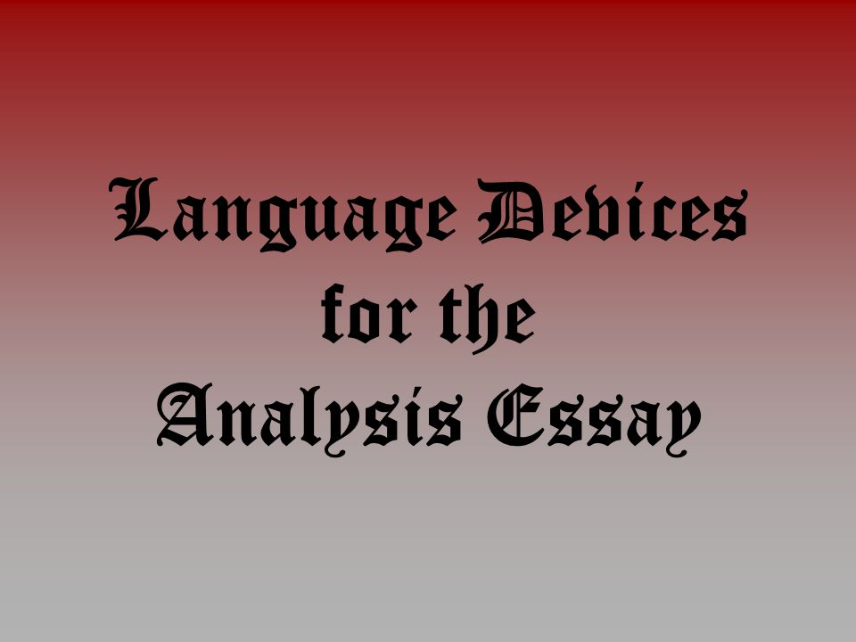 literary techniques in the scarlet letter ppt video online  3 language devices for the analysis essay