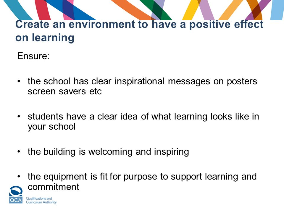 how to create a positive learning environment for adults