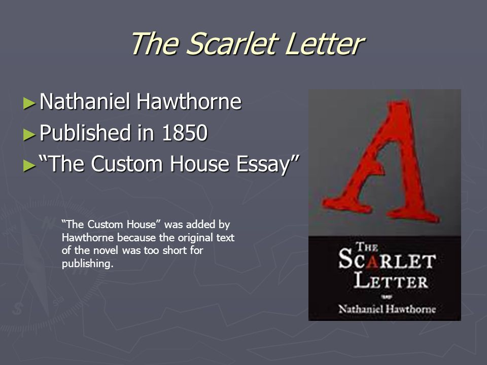 an analysis of nature in scarlet letter by nathaniel hawthorne Freebooksummarycom ✅ daniele luetke ap english 12/20/12 nature essay the role of nature in nathaniel hawthorne's the scarlet letter, there are several chapters devoted to nature and its role in the novel in the scarlet letter we have so large base of authors that we can prepare a unique summary of any book.