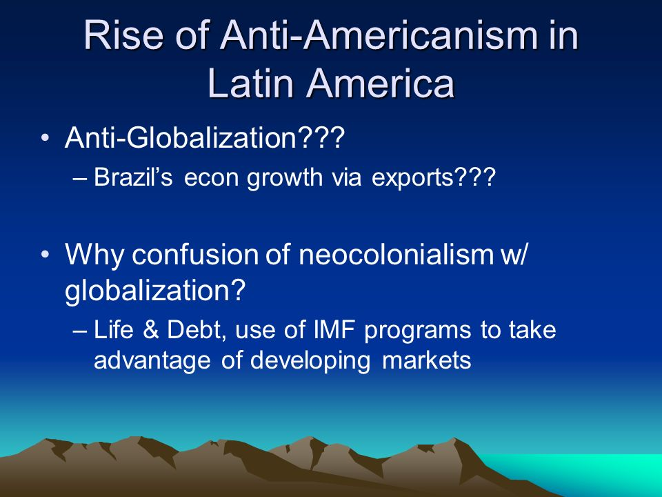 globalization of latin america an in depth Latin america (with today a mere 8 (december) latin america confronts the challenge of globalization latin america confronts the challenge of globalization.