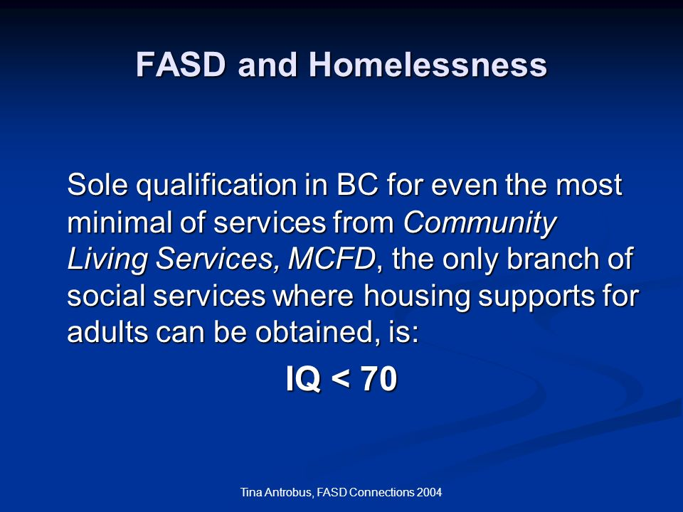 Tina Antrobus, FASD Connections 2004