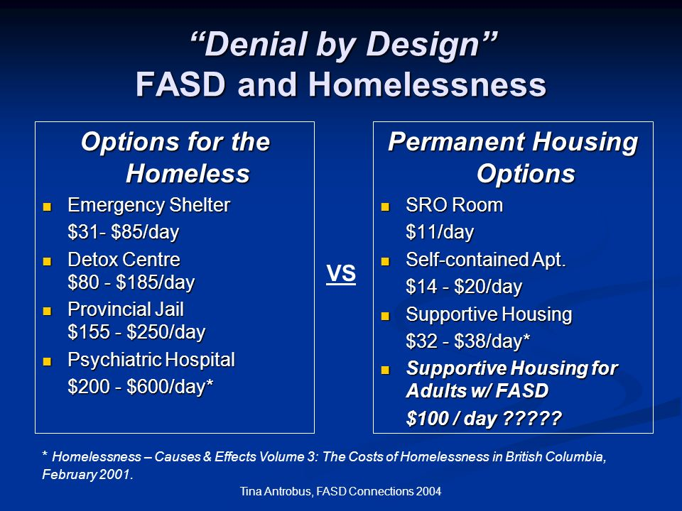 Denial by Design FASD and Homelessness