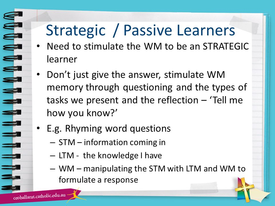 Strategic / Passive Learners
