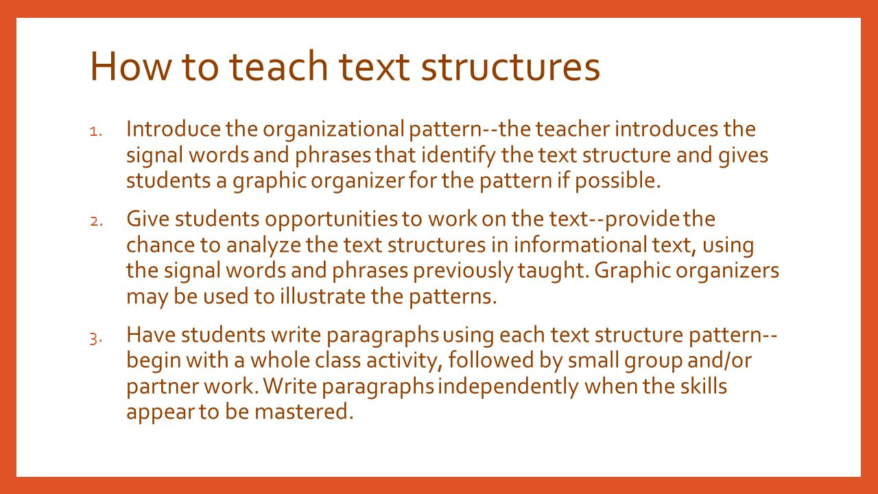 How To Teach Text Structures Pdf Annotate Ipad