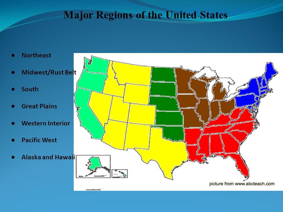 Major Regions of the United States