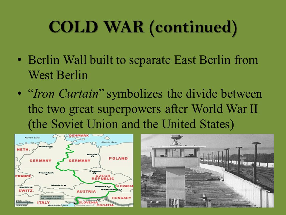 an analysis of the topic of the berlin wall between the west and east Pursuant to economic and social council resolution  central asia east asia south-east asia south asia west asia 00 50  but the fall of the berlin wall,.