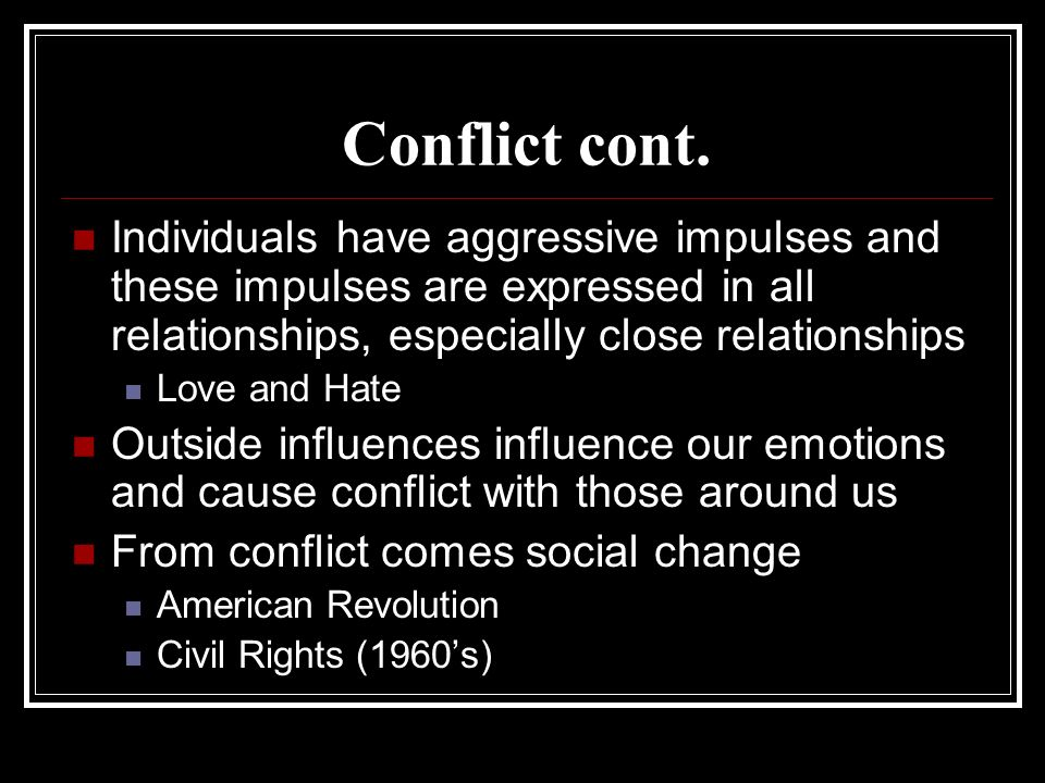 conflict theory the civil rights movement Civil rights movement the african americans managed to solve their conflict and resolution through acts of non-violence and struggle.