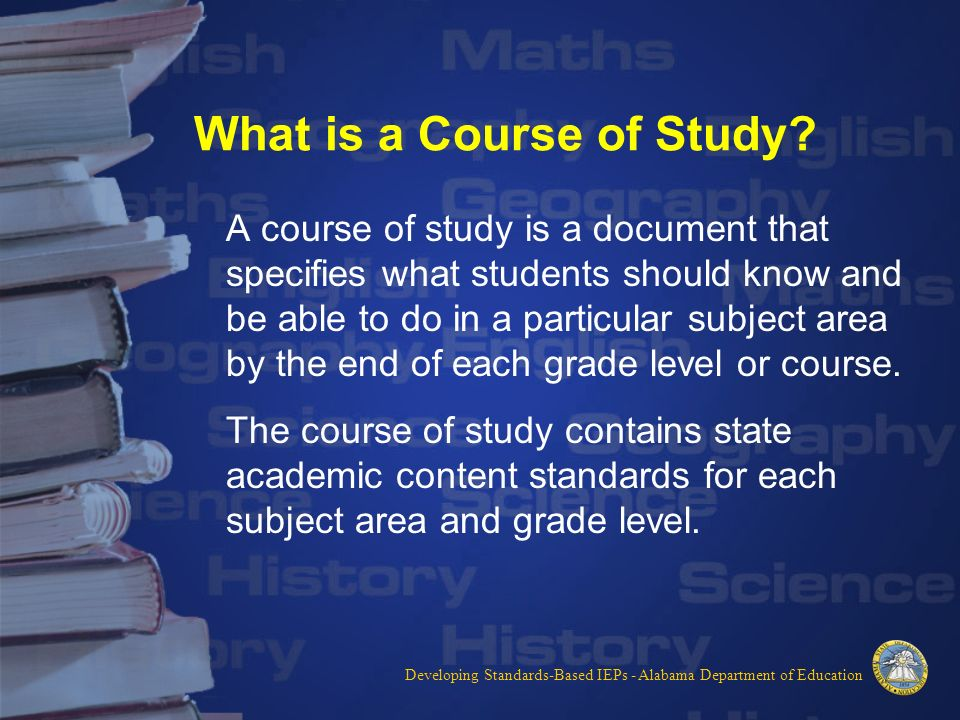 Alabama Course of Study - Music - Shelby County Schools