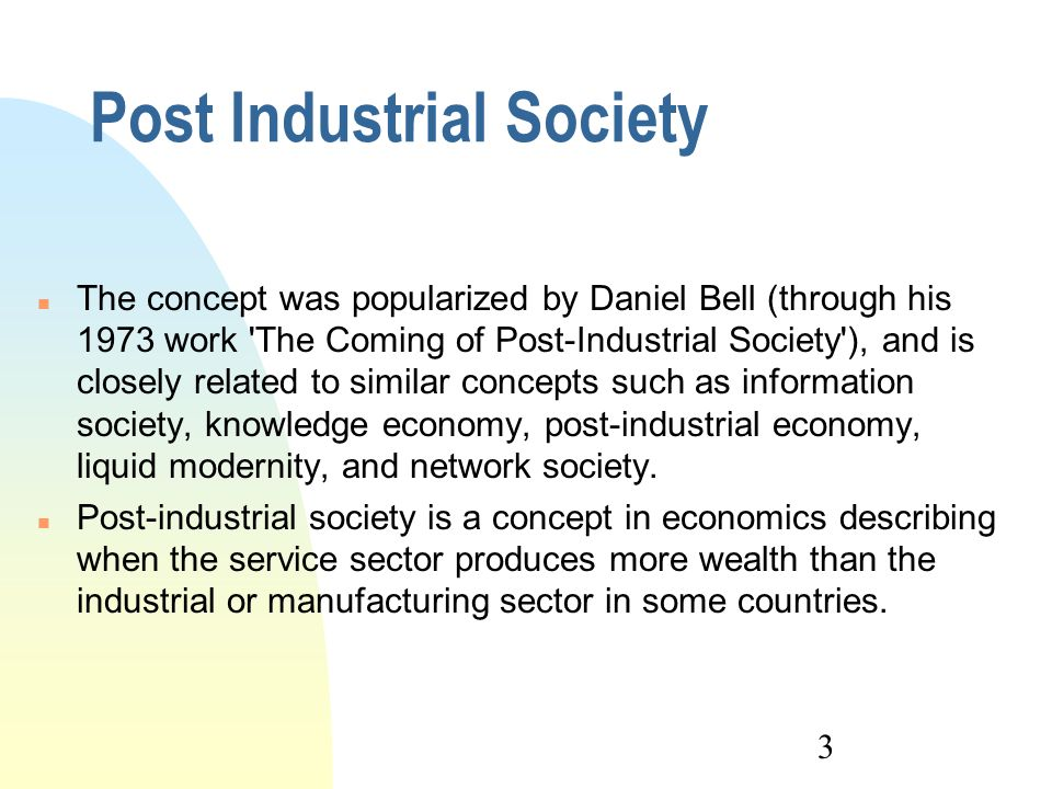 daniel bell the coming of post industrial society