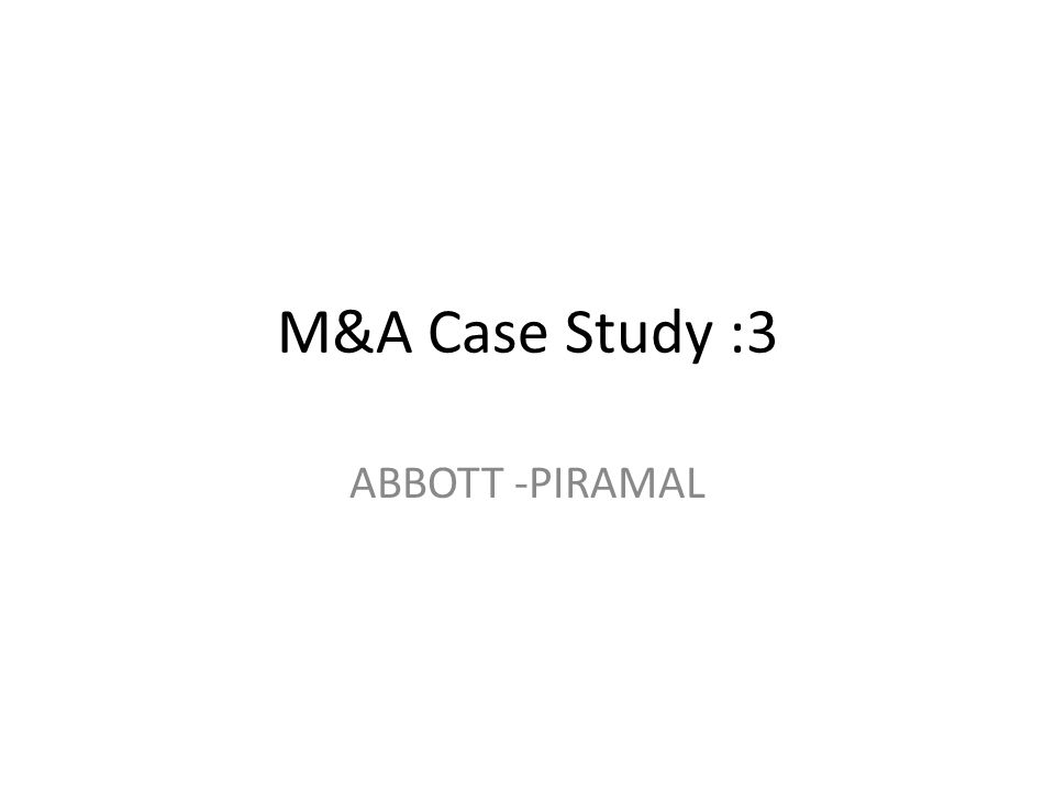 abbott case study The more that patent assignment obligations of employees or consultants are spelled out explicitly, the better protection there is for the company — then there are no ambiguities that can be .