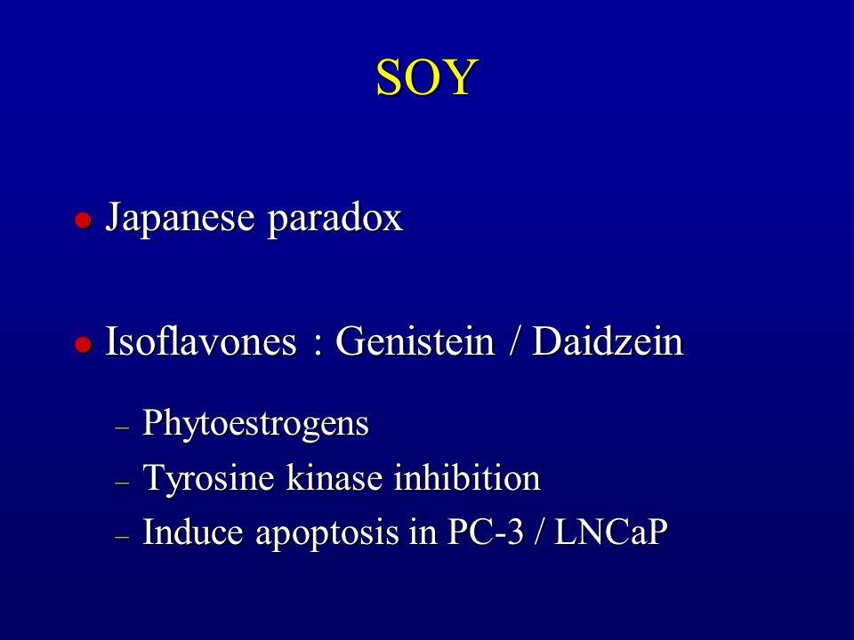 SOY Japanese paradox Isoflavones : Genistein / Daidzein Phytoestrogens