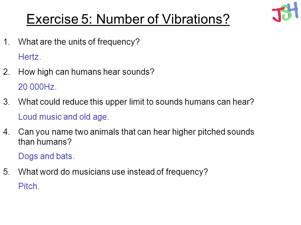 Exercise 5: Number of Vibrations
