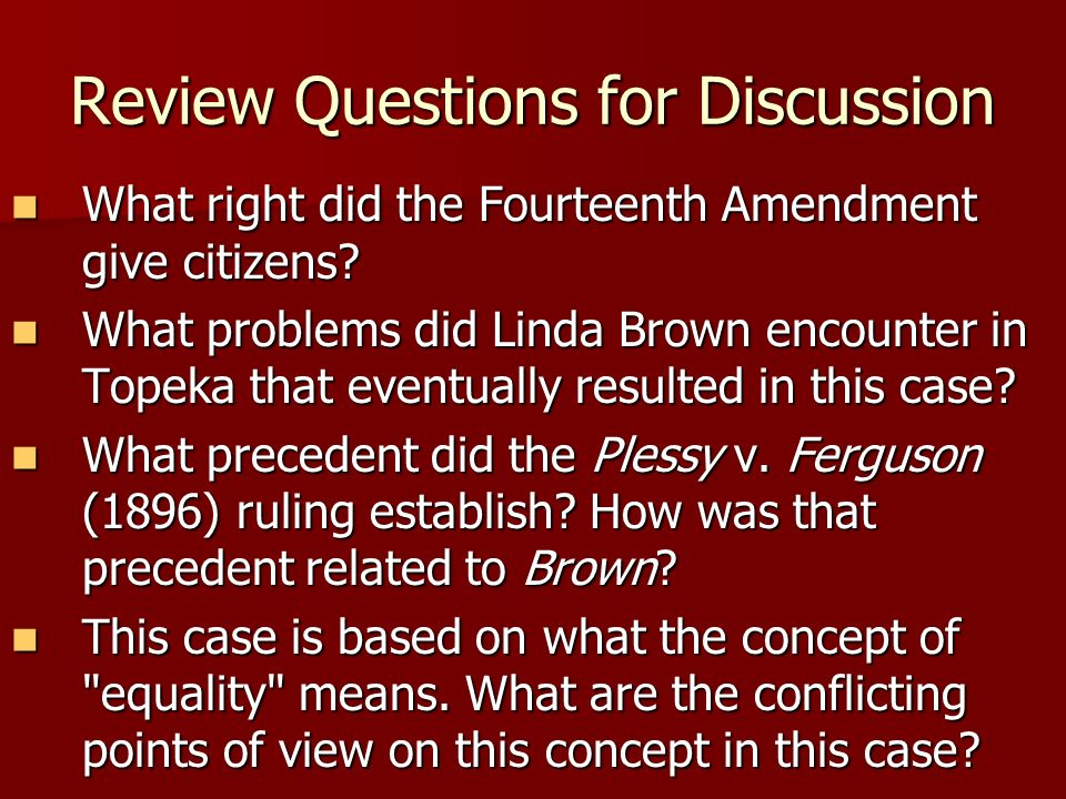 A discussion on the 14th amendment