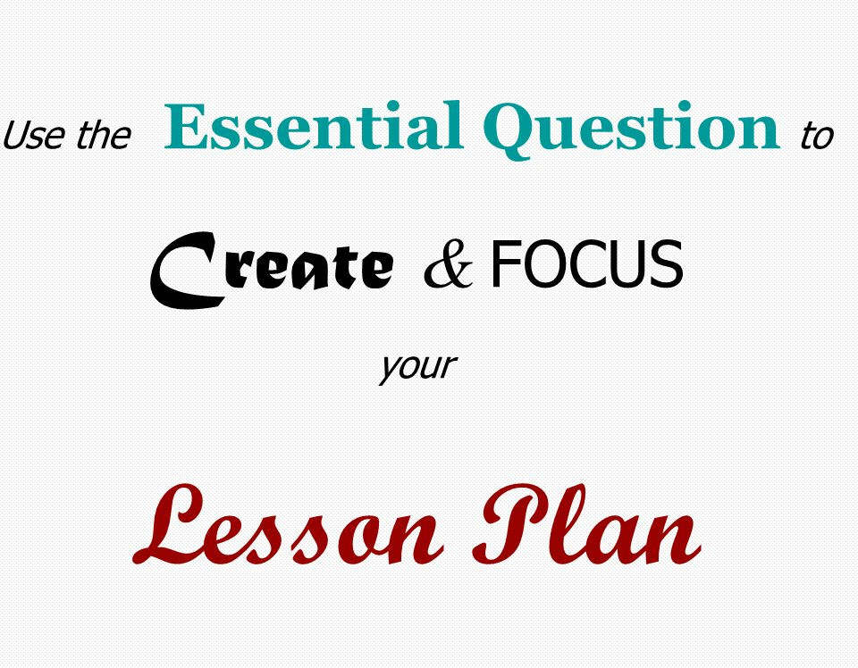 how to create focus question in lesson seqiences