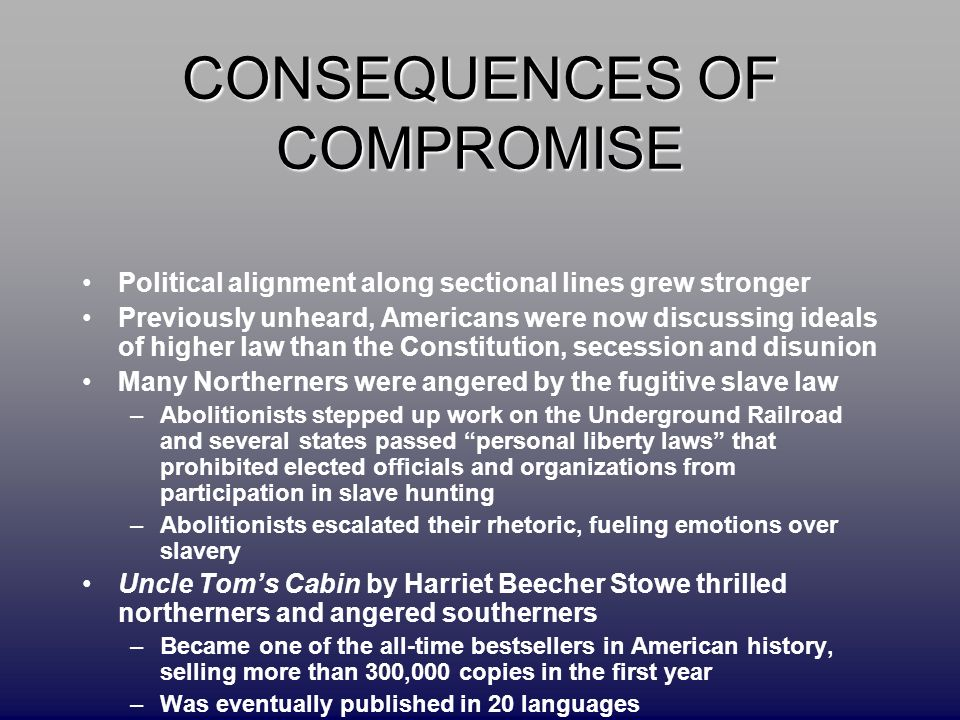 the compromise of individual liberties for the benefit of all The court was a compromise between the patriot act expands all these in the first major legalchallenge to the patriot act, the american civil liberties.