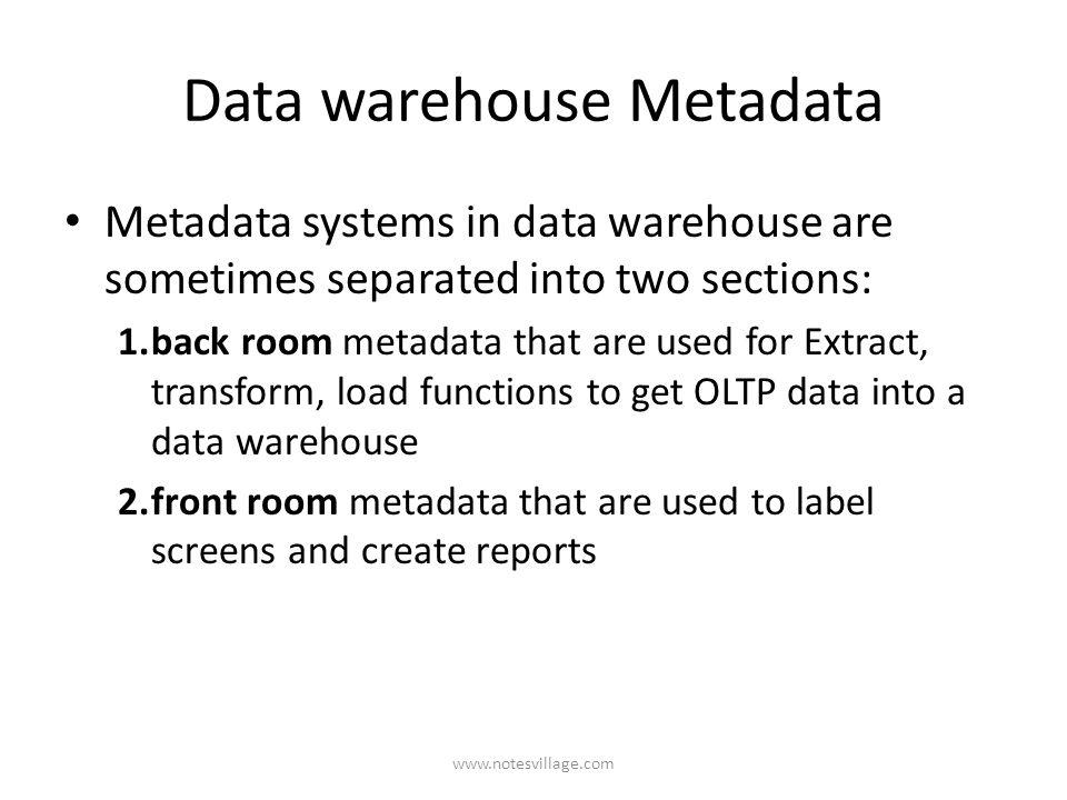 metadata in data warehouse pdf