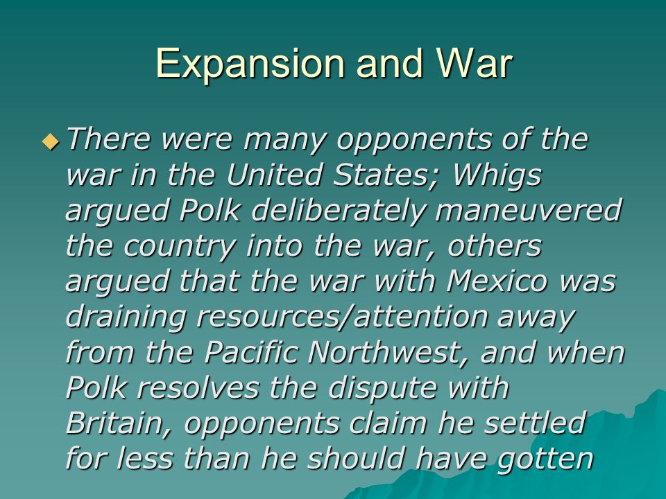 Expansion and War