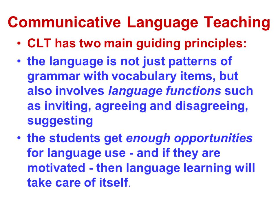 the using of communicative language teaching Po r t a li n g u a r u m 20, junio 2013 pp 187-203 applying communicative approach in teaching english as a foreign language: a case study of pakistan sa e e d ah m a d.