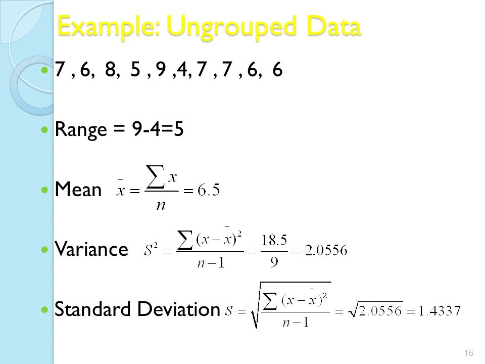 how to get variance of grouped data