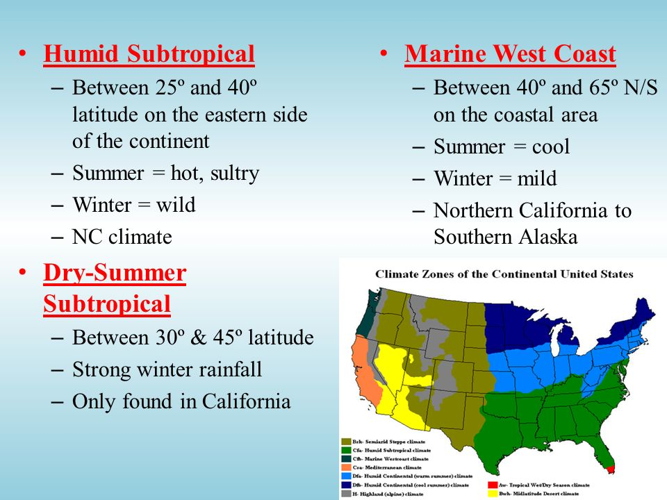 Dry-Summer Subtropical Marine West Coast
