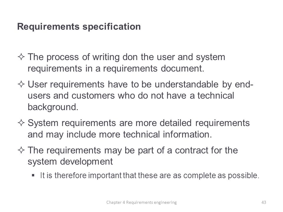 How to Write the System Requirements Specification for Software Development