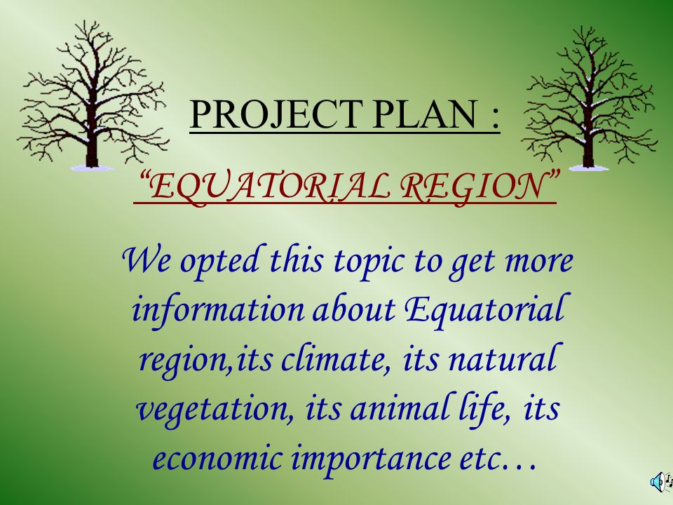 What is an equatorial region?
