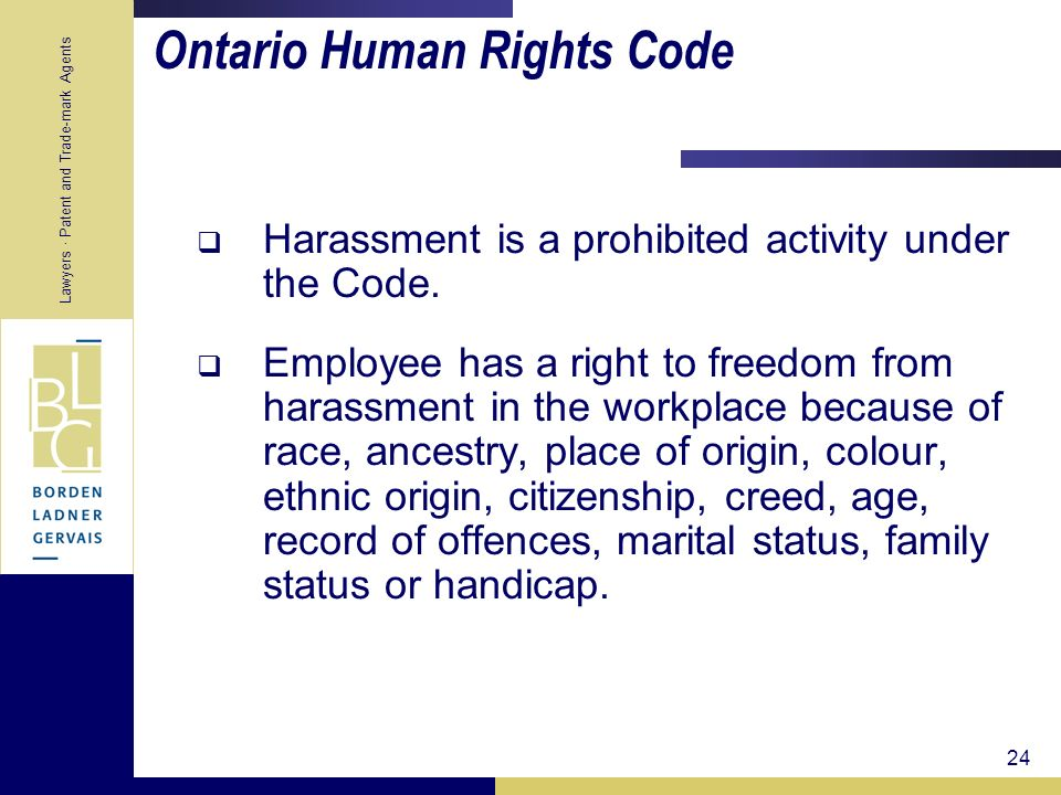 Ontario Human Rights Code