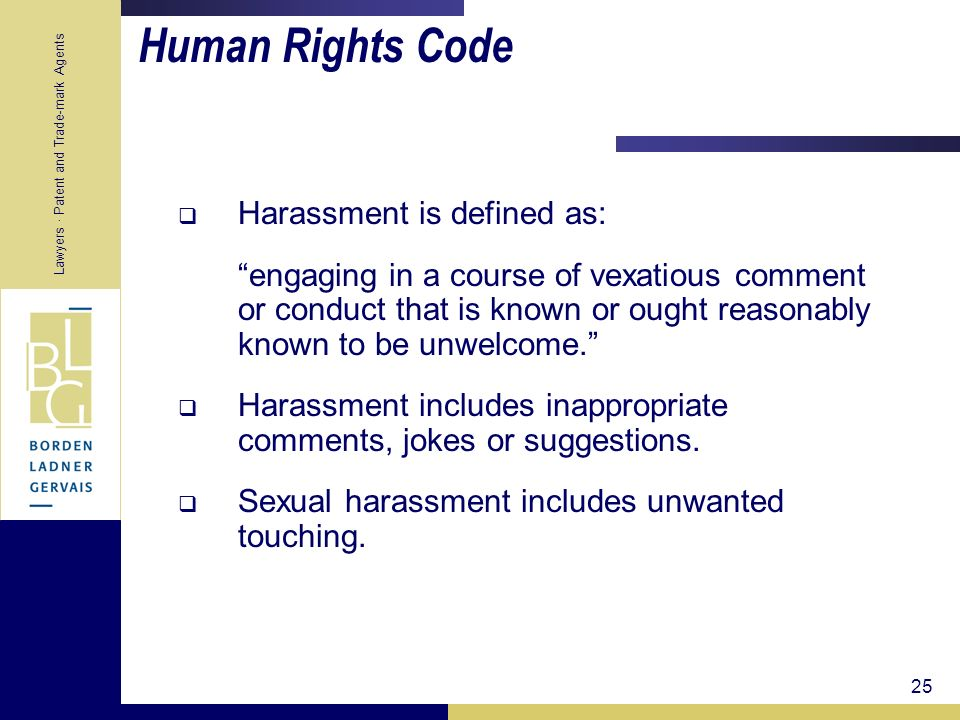 Human Rights Code Harassment is defined as:
