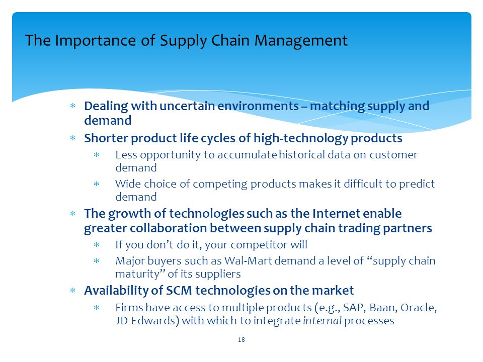 explaining the importance of supply chain management Effective inventory management in a supply chain can play a vital role in cutting inventory holding costs across the different stages of the supply chain, thus emphasizing the need of a general model for managing inventories within a supply.