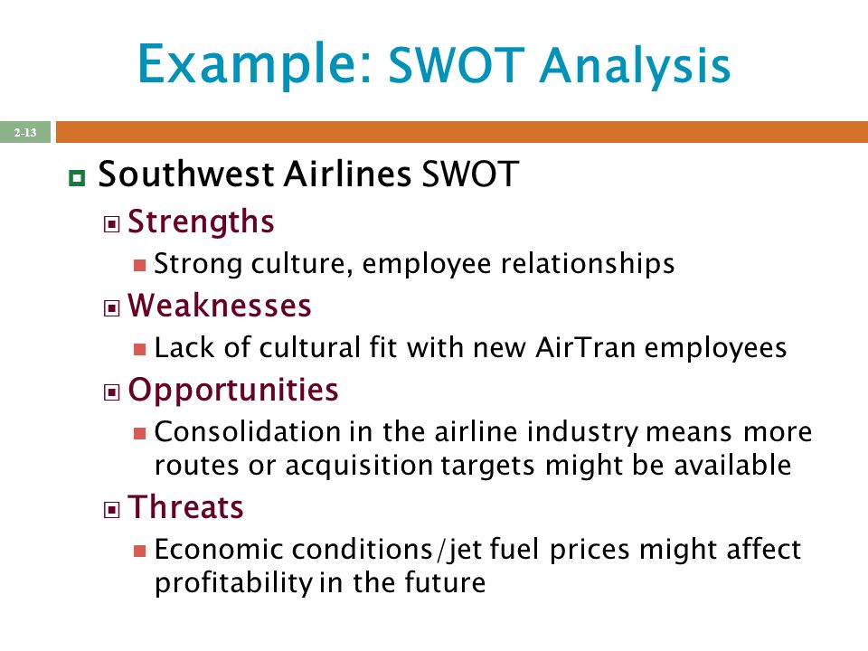 southwest airlines swot analysis 2018