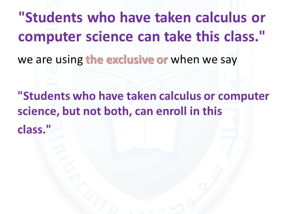 Students who have taken calculus or computer science can take this class.