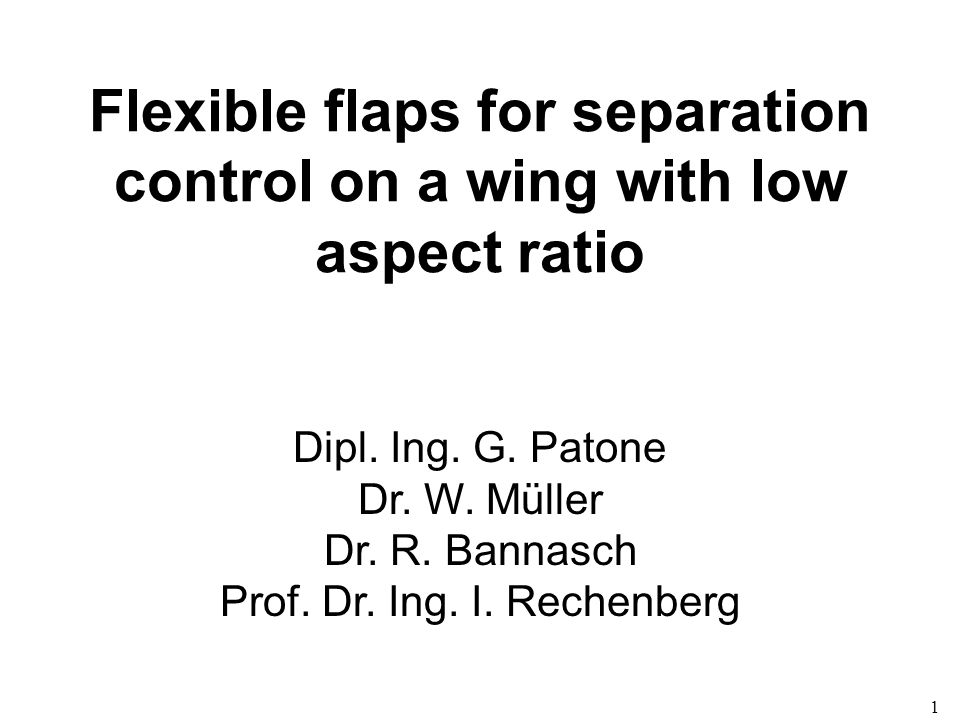 Flexible flaps for separation control on a wing with low aspect ratio