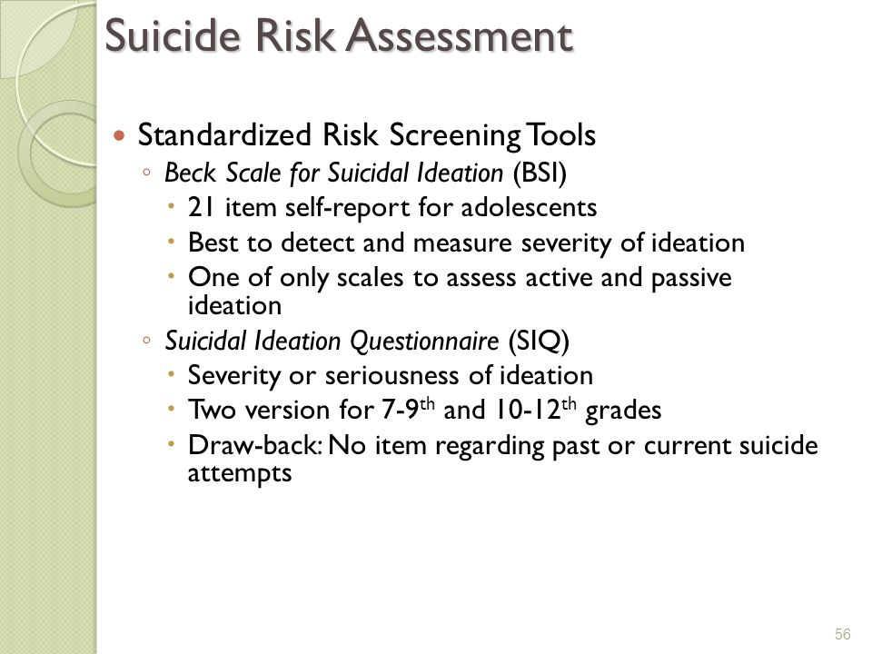 adult suicidal ideation questionnaire