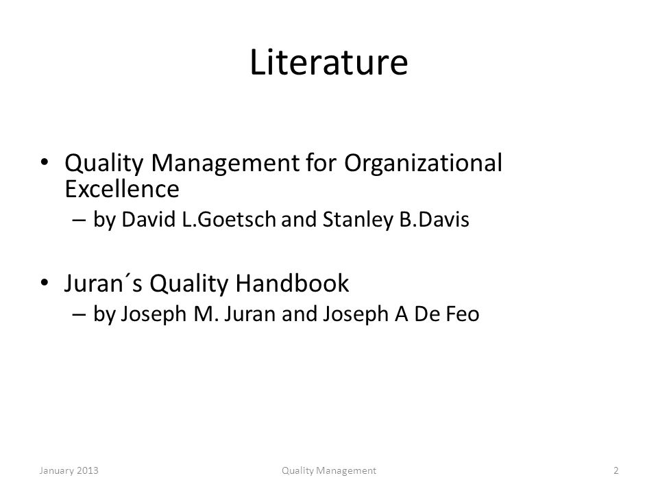 quality management for organizational excellence Leadership & management chapter 1 these leaders have an inspirational quality that promotes an emotional -viewed the organization as a machine to be run.