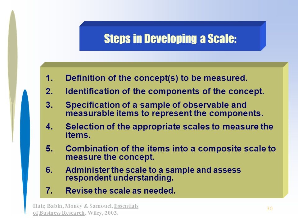 Measurement and Scaling Concepts - Essay Example