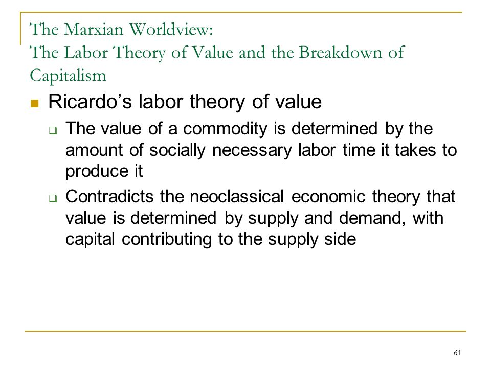 the labour theory of value economics essay Labour - theory of wages prof  labour theory of value • adam smith's concept of 'value in use' vs  essay answers • examine critically the various .
