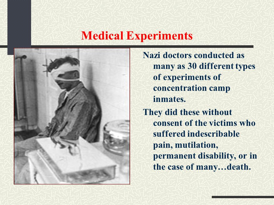 research papers on nazi experimentation Free human experimentation papers human experimentation and subject research were of little interest to society before nazi, experimentation, massacre.