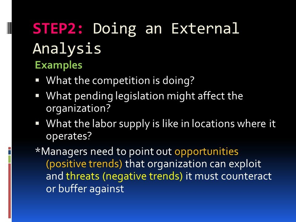 internal and external analysis in strategic management pdf