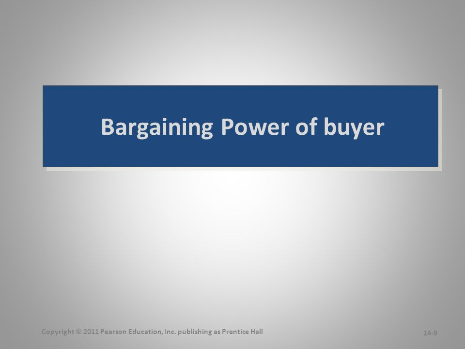bargaining power of buyers in hotel industry As an example, the airline industry has fierce competition among the two  producers, airbus and boeing the bargaining power of the buyers,.