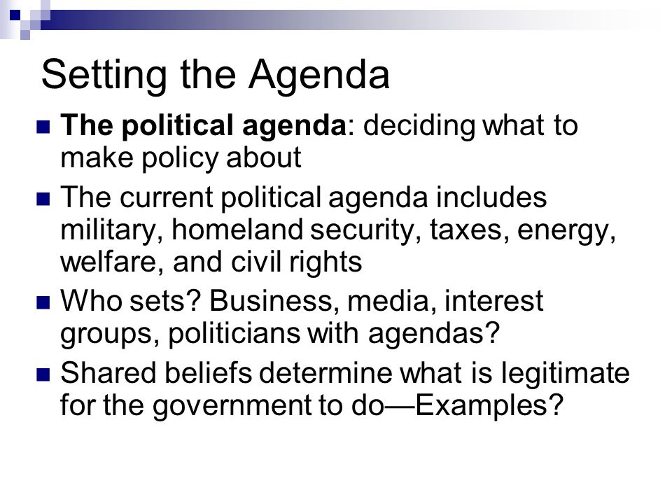 media and politics agenda setting for political figures and candidates Flecting what candidates are saying during a campaign, the mass media may well determine the important cally focusing on the agenda-setting function of the media, lang and lang observe: the mass media force attention to certain issues they build up public images of political figures they are constantly presenting.